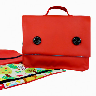 Cartable rouge du chaperon rouge