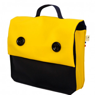 Cartable jaune & marine