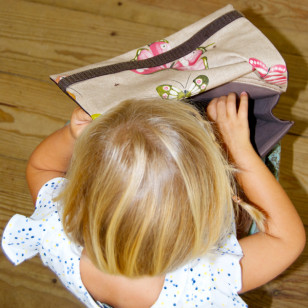 Cartable pour la maternelle rétro