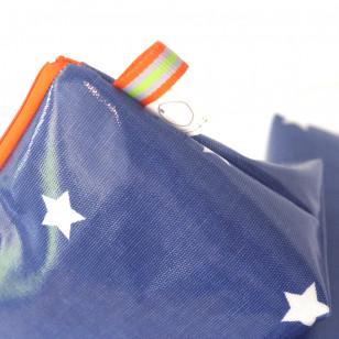Trousse enduite bleu étoilée - gros berlingot