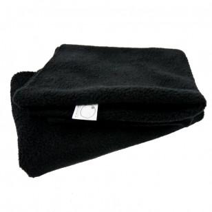 Tour de cou polaire noir, snood, remplace l'écharpe