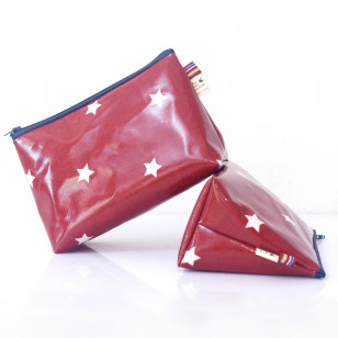Trousse rouge avec des étoiles - gros berlingot