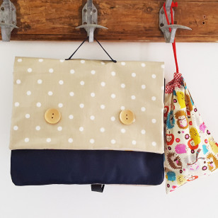 Cartable marine & pois (Gd)