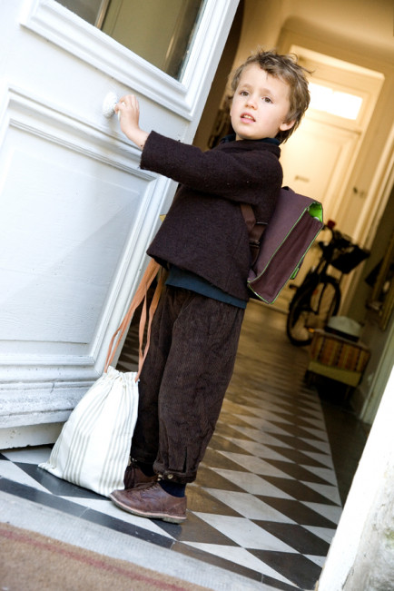 cartable enfant marron