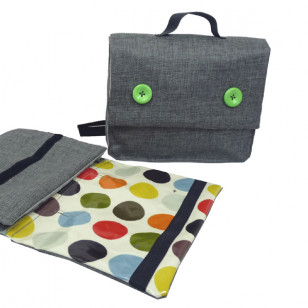 Cartable gris & pois !