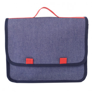 Cartable rouge en jean
