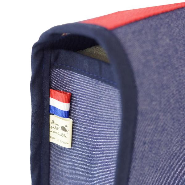 Cartable rouge en jean
