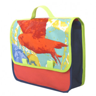 Cartable enfant au perroquet !