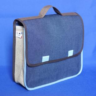 Cartable bleu marine pour la maternelle, Denim lama