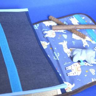 Cartable pour enfant de maternelle, Denim lama