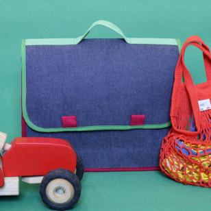 Cartable pour enfant de maternelle, Denim graou