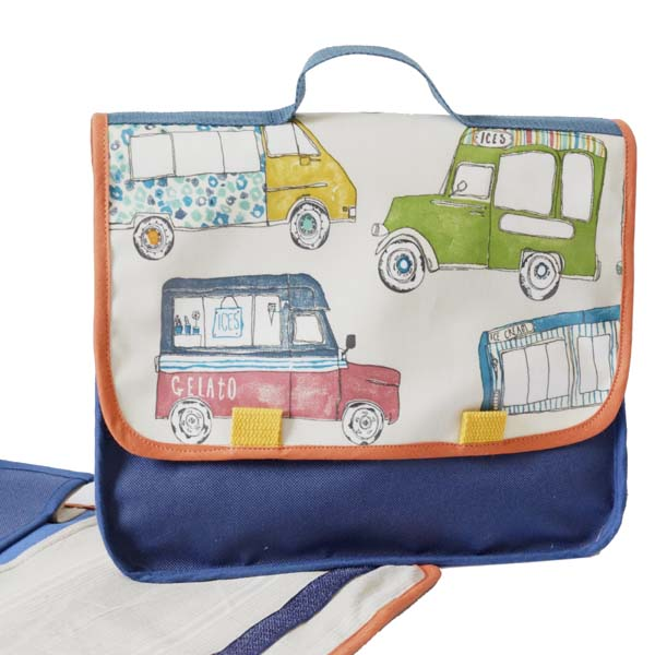 Cartable maternelle bababus, style vintage