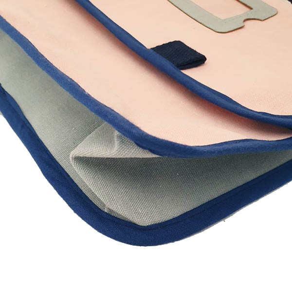 Cartable maternelle rose poudré & bleu ciel, petit format