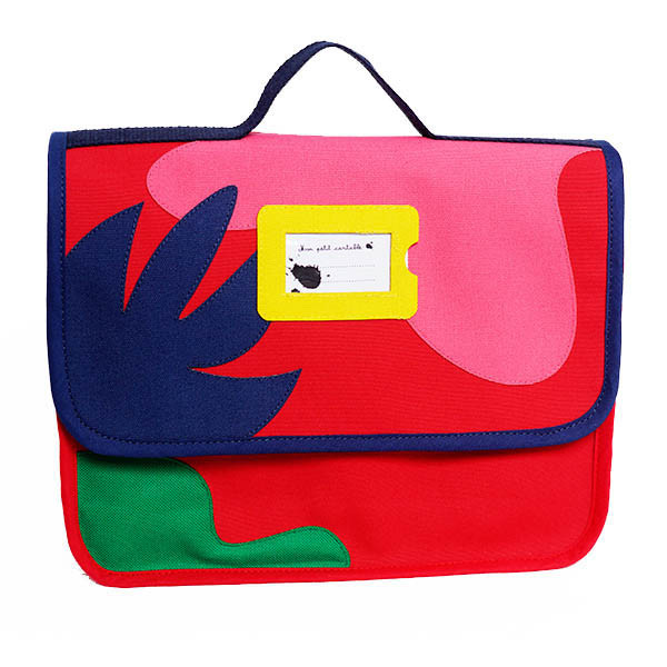 Cartable créateur, Collection « arty & organic » rouge