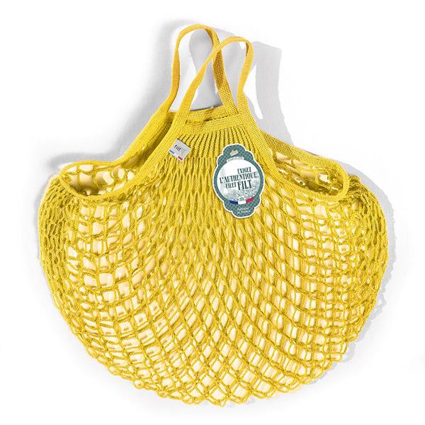 Grand sac filet jaune solarium