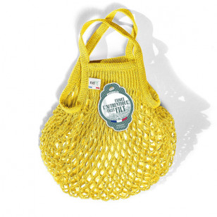 Petit sac filet jaune solarium