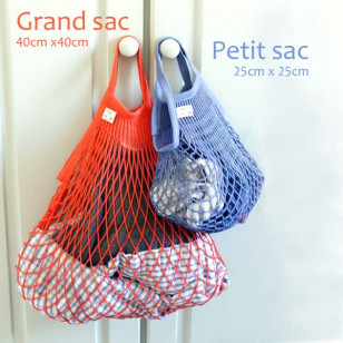 Grand sac filet bleu jean