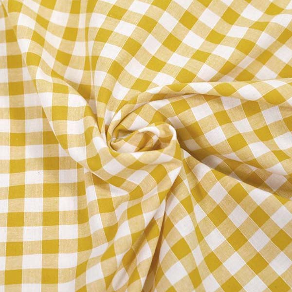 Serviette élastiquée vichy jaune