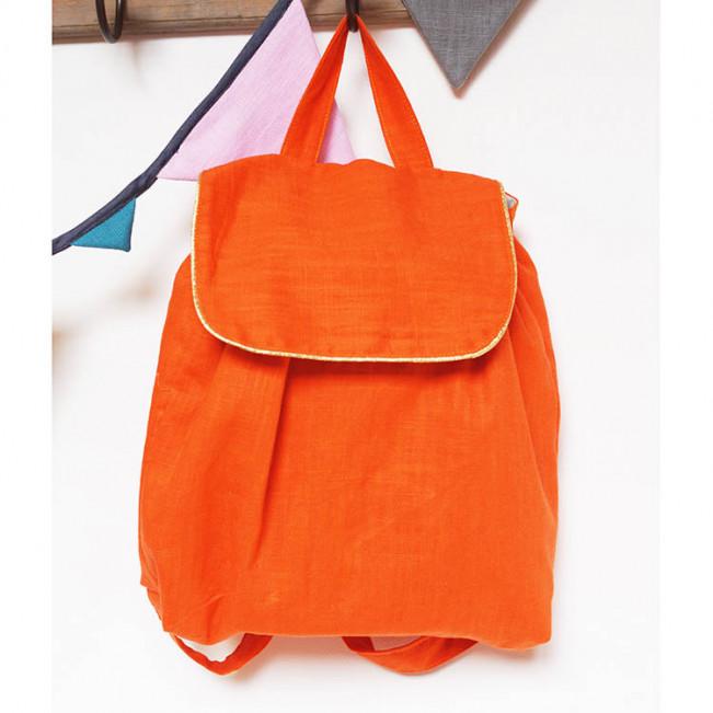 Sac à dos enfant, lin orange multivitaminé !