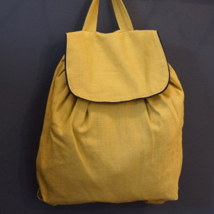 Sac à dos enfant, lin colonel moutarde