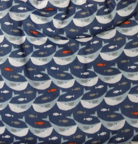 Serviette élastiquée baleines graphiques
