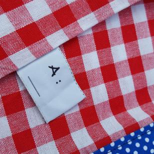 Housse serviette/petit sac gouter, vichy rouge