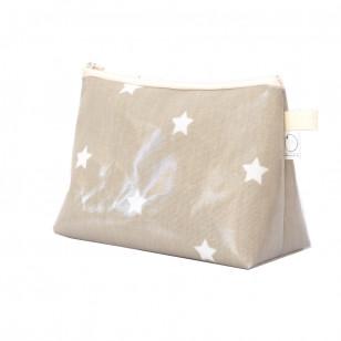 Trousse étoiles beige